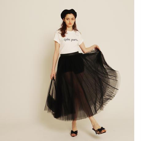 3tulle volume skirt black