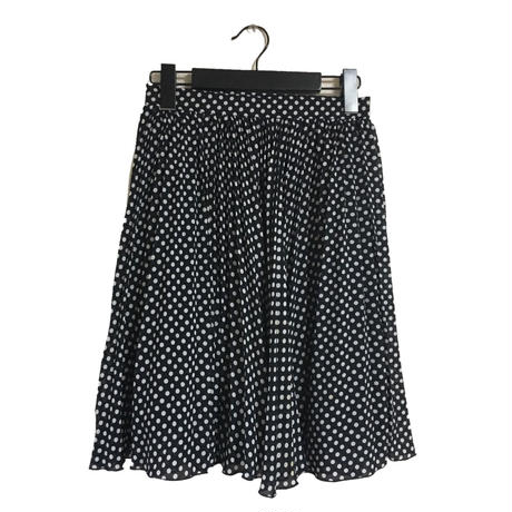 dot  design pleats skirt(No.2694)