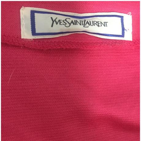 YSL logo gold botton cardigan
