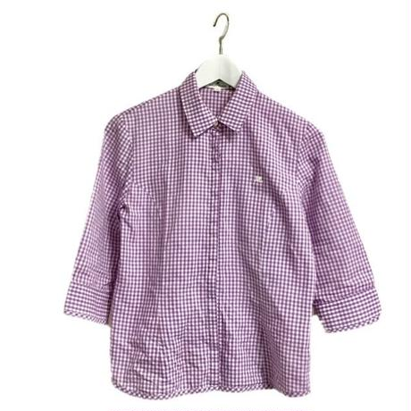 courreges gingham check shirt