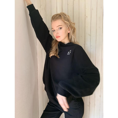 épine embroidery star hoodie black Ssize