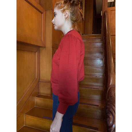 ÉPINE logo arm volume knit red