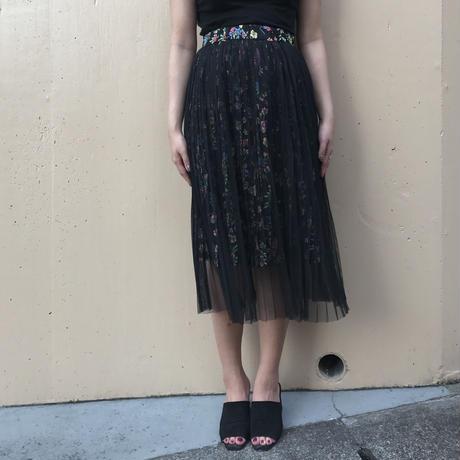 tulle pleats flower skirt