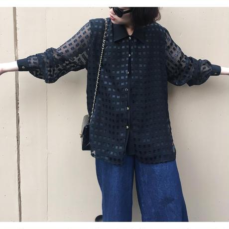 square see-through shirt