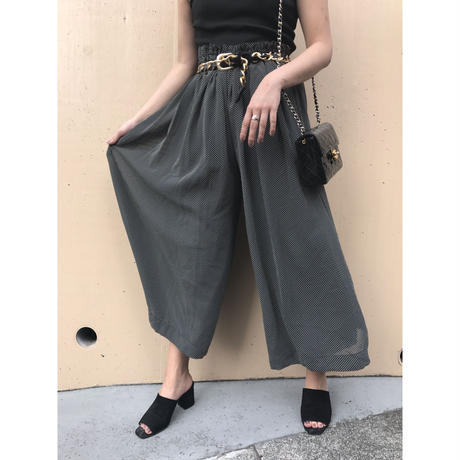 dot design wide pants