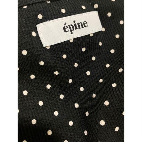 épine label camisole ribbon×dot rib