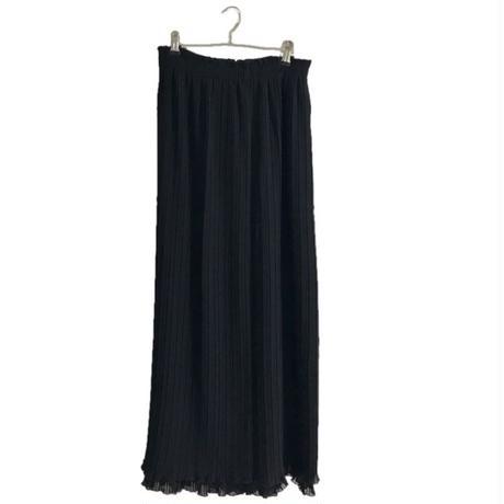 double pleats long skirt