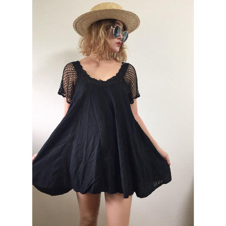 arm net lace design tunic