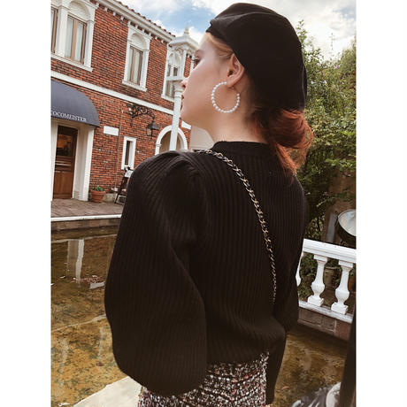 arm volume knit black