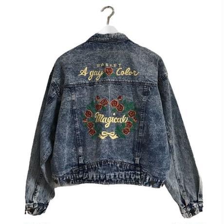 embroidery design denim jacket