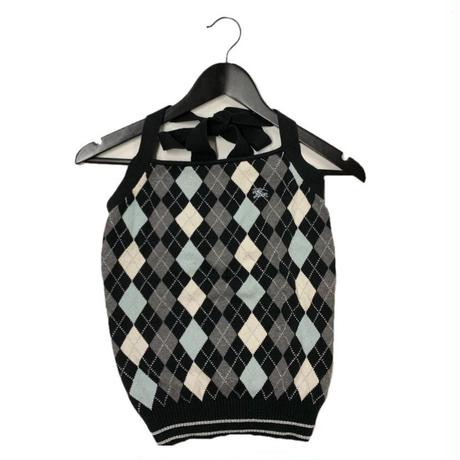 Burberry argyle design halter neck tops (No.3029)