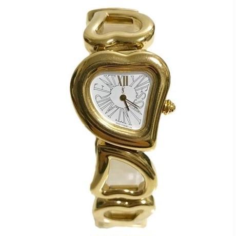 YSL heart chain design watch