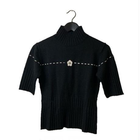 MARY QUANT logo high neck knit  tops(No.3244)