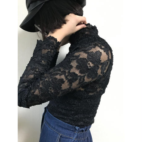 lace high neck tops