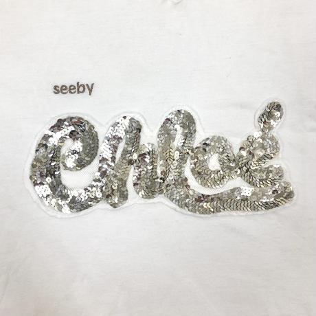 see by chloé glitter logo v tops(No.4401)