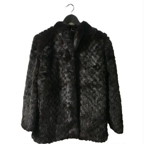 【スペシャルプライス】mink fur quilting coat dark blown