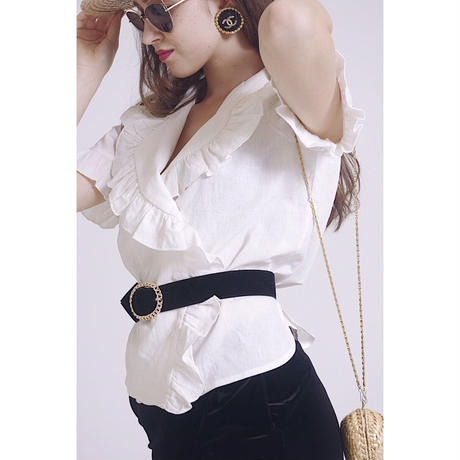 fril white blouse