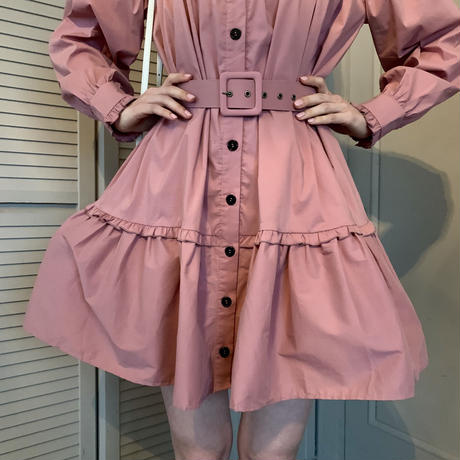frill 2way tiered one-piece pink