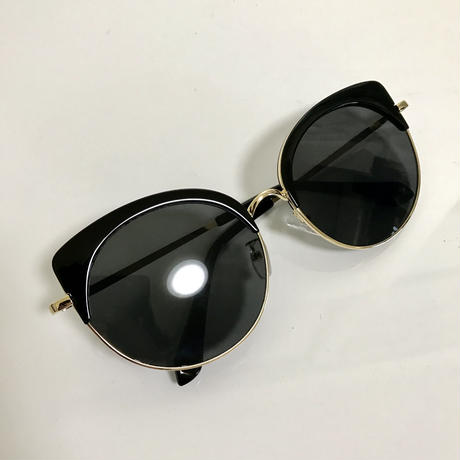 gold flame cat eye sunglasses