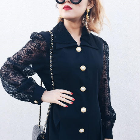 arm lace parl jacket