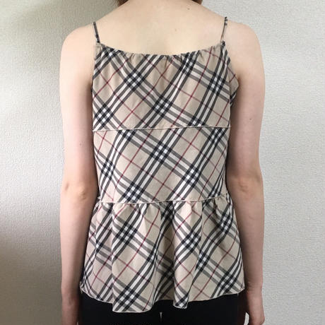 Burberry check design flare camisole