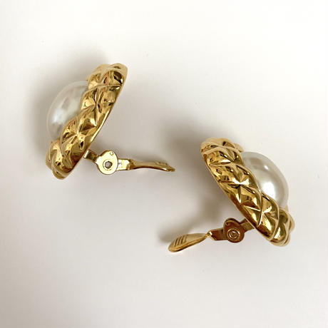 quilting gold earring (No.4393)