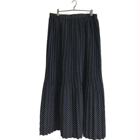 dot  pleats long skirt