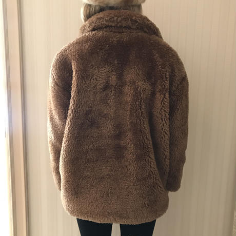 teddy bear boa coat