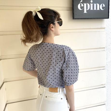 seebyChloe dot×stripe blouse (No.4380)