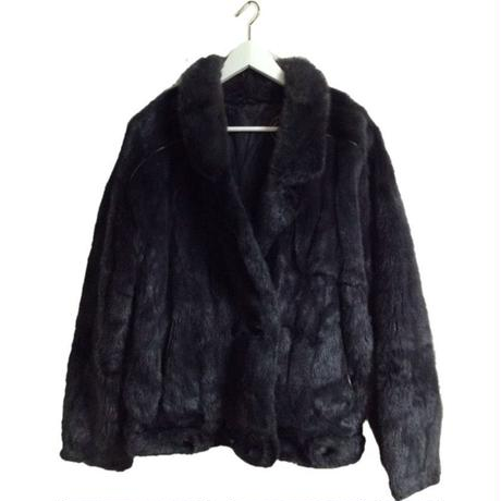 gray design fur coat