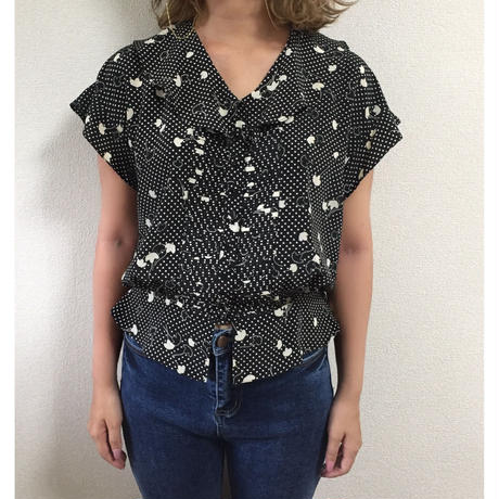 flower dot blouse
