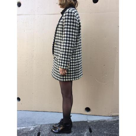 【スペシャルプライス】velour  design check coat