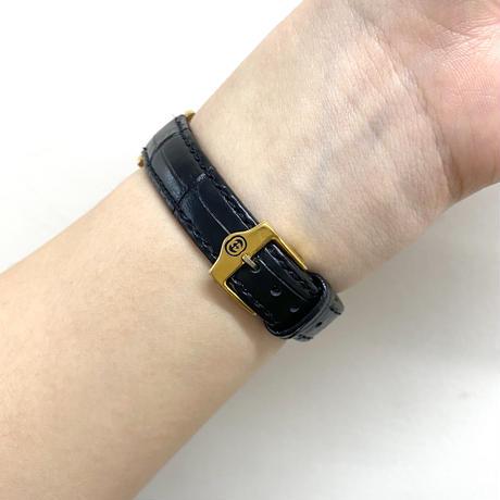 GUCCI square flame design Watch black(No.4122)