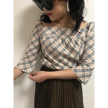 Burberry check square blouse