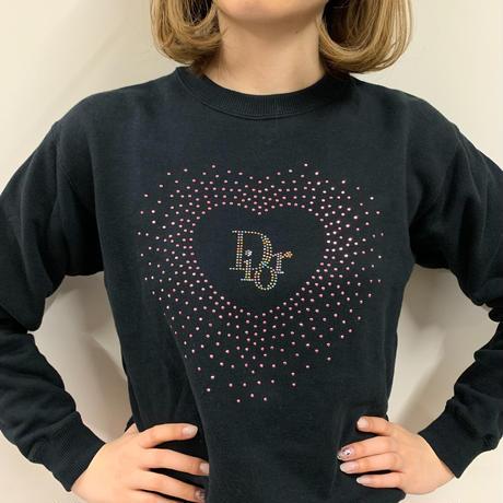 Christian Dior heart logo stone  design sweat (No.3291)