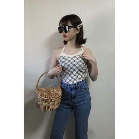 Burberry check holder neck camisole