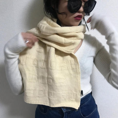 Dior logo wool muffler off-white