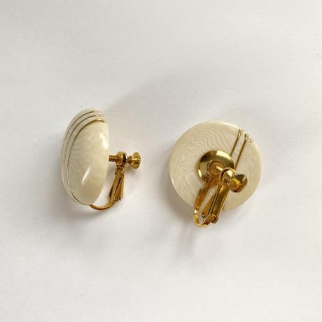 gold line vintage earring (No.4310)