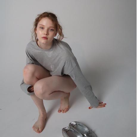 pinup girl long tee gray