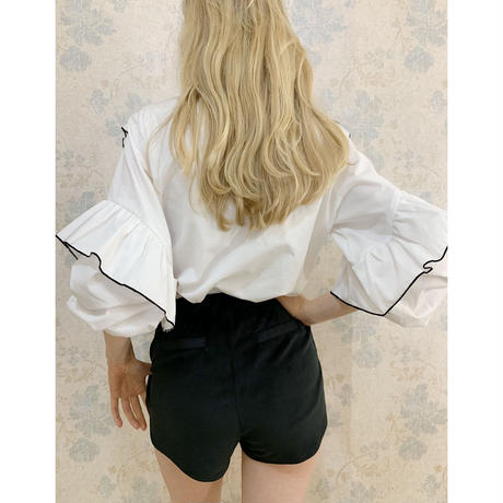 piping frill volume blouse