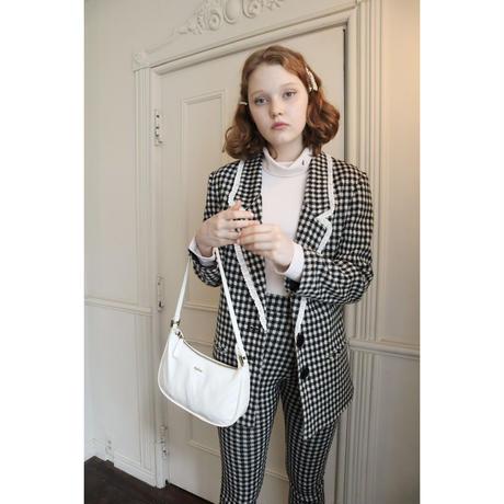lace check knit jacket