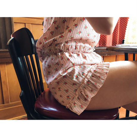 frill flower short pants pink