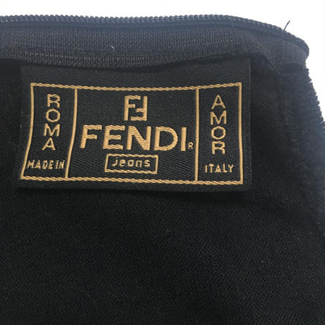FENDI velours see-through logo tops