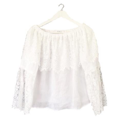 lace off shoulder blouse white