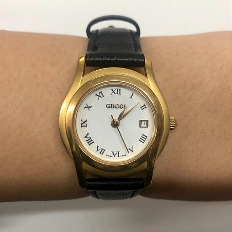 GUCCI gold frame watch(No.3329)