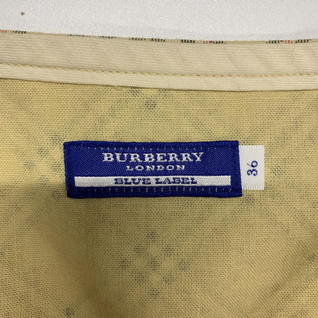 Burberry check design ribbon skirt(No.3921)