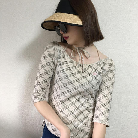 Burberry check design tops