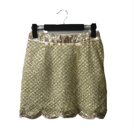 span design mini skirt