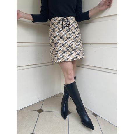 Burberry check race-up skirt(No.4575)