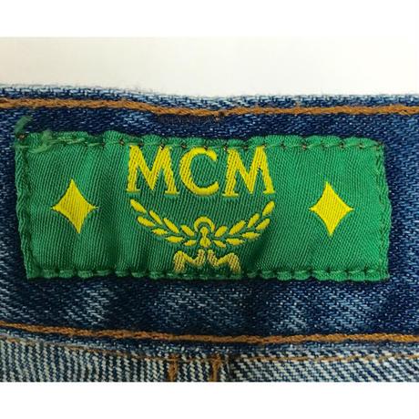 MCM scarf logo denim
